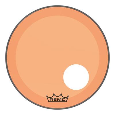 "Remo Powerstroke P3 Colortone Orange Bass Drumhead 20"" 5"" Offset Hole"