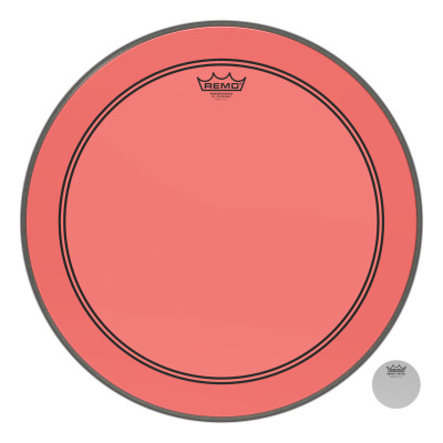 """Remo Powerstroke P3 Colortone Red Bass Drumhead 20"""""""