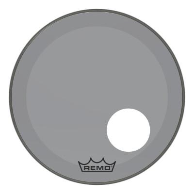 "Remo Powerstroke P3 Colortone Smoke Bass Drumhead 20"" 5"" Offset Hole"