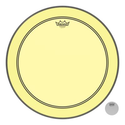 "Remo Powerstroke P3 Colortone Yellow Bass Drumhead 20"""