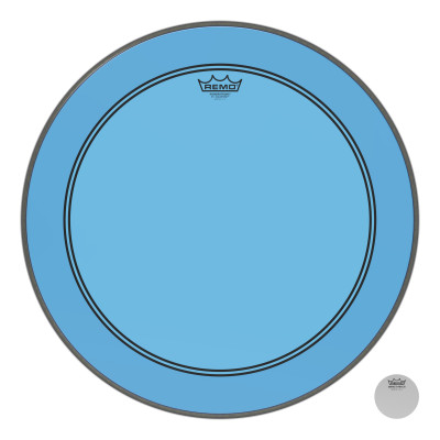 Remo Powerstroke P3 Colortone Blue Bass Drumhead 22""