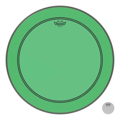"Remo Powerstroke P3 Colortone Green Bass Drumhead 22"""