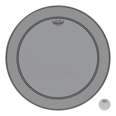 "Remo Powerstroke P3 Colortone Smoke Bass Drumhead 22"""