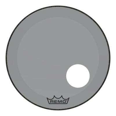 "Remo Powerstroke P3 Colortone Smoke Bass Drumhead 22"" 5"" Offset Hole"