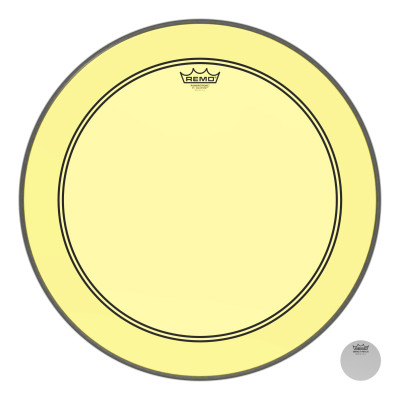 Remo Powerstroke P3 Colortone Yellow Bass Drumhead 22""