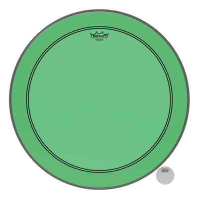 "Remo Powerstroke P3 Colortone Green Bass Drumhead 24"""