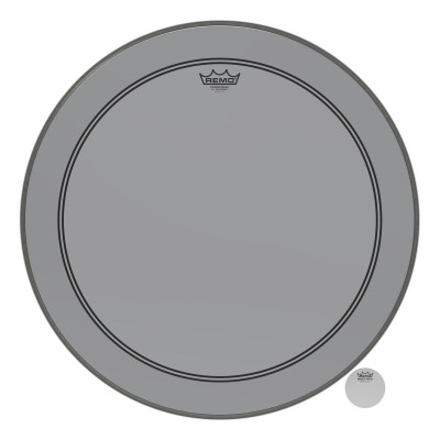 Remo Powerstroke P3 Colortone Smoke Bass Drumhead 24""