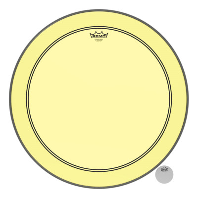 Remo Powerstroke P3 Colortone Yellow Bass Drumhead 24""