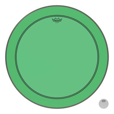 "Remo Powerstroke P3 Colortone Green Bass Drumhead 26"""