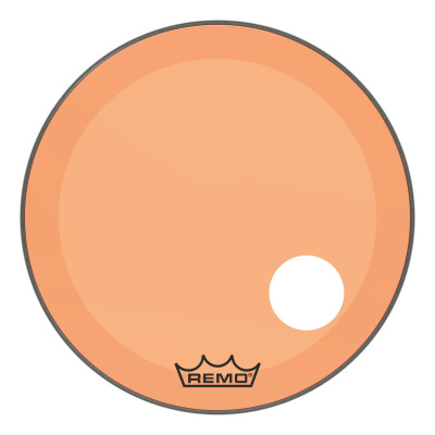 "Remo Powerstroke P3 Colortone Orange Bass Drumhead 26"" 5"" Offset Hole"