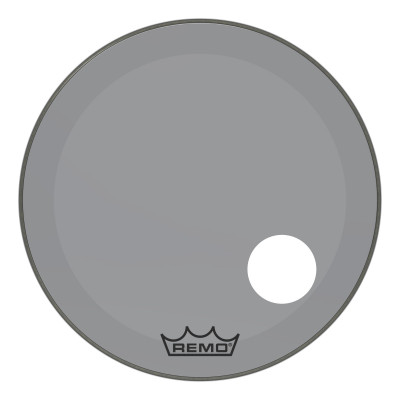 "Remo Powerstroke P3 Colortone Smoke Bass Drumhead 26"" 5"" Offset Hole"