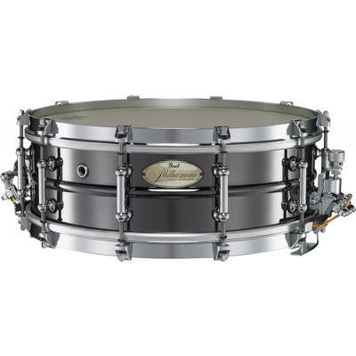 "Pearl Philharmonic Snare 14""x5"" Brass Beaded Shell Black Nickel"