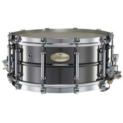 "Pearl Philharmonic Snare 14""x6.5"" Brass Beaded Shell Black Nickel"