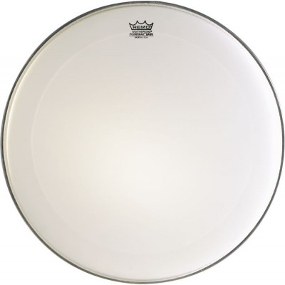 Remo POWERMAX Bass Drum Head - Crimplock - Ultra White 28 inch