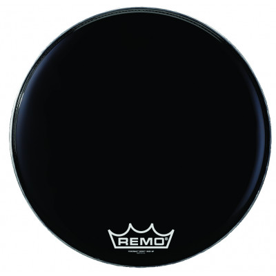 Remo POWERMAX 2 Bass Drum Head - Crimplock - Ebony 28 inch