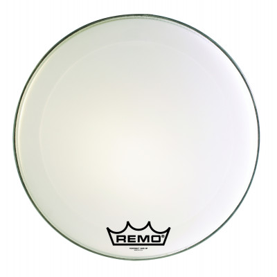 Remo POWERMAX 2 Bass Drum Head - Crimplock - Ultra White 28 inch