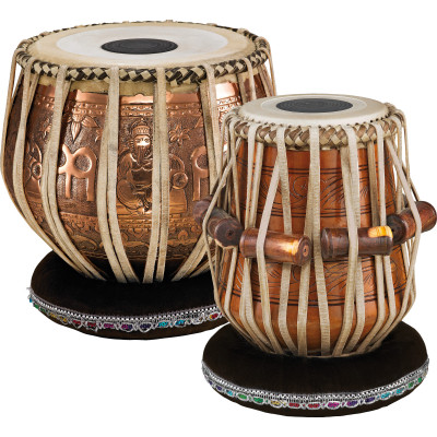 "Meinl Professional Tabla 5 1/2"" Dayan & 9"" Baya, with Head Covers"