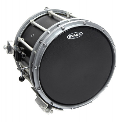 "Evans 13"" Hybrid-S Marching Snare Drum Batter Head - Black"