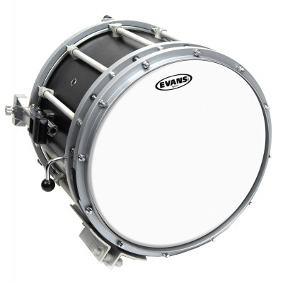 "Evans 13"" Hybrid Marching Snare Drum Batter Head - White"