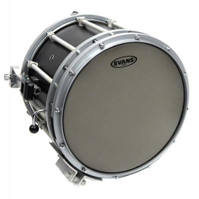 "Evans 14"" Hybrid Marching Snare Drum Batter Head - Grey"