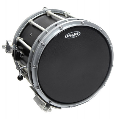 "Evans 14"" Hybrid-S Marching Snare Drum Batter Head - Black"
