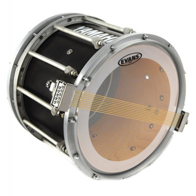 "Evans 14"" MS3 Marching Drum Snare Side Head - Clear"