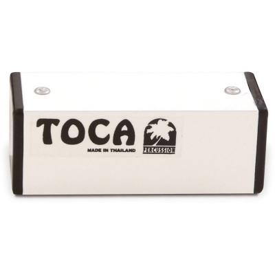 "Toca 4"" Aluminum Square Shaker, White"