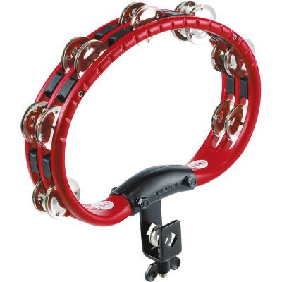 Meinl ABS Mountable Tambourine Steel Jingles Red