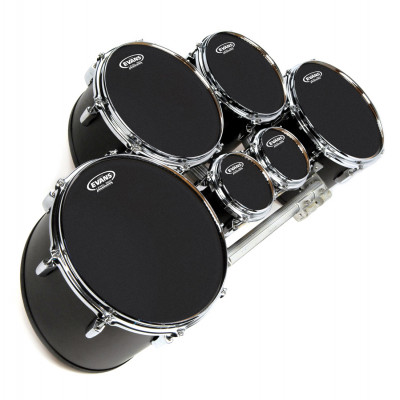 "Evans 06"" MX Marching Tenor Head Black"