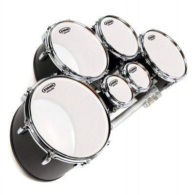 """Evans 12"""" MX Marching Tenor Head Frosted"""