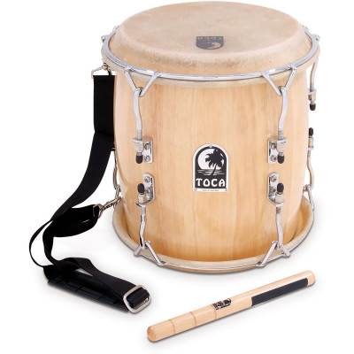 "Toca Pro Wood Tambora with Strap and Beater, 11"" x 14"""