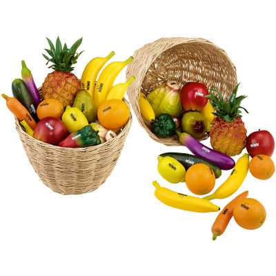 Meinl NINO Botany Assort. of 36 Pieces Fruit & Vegetables w/ Basket