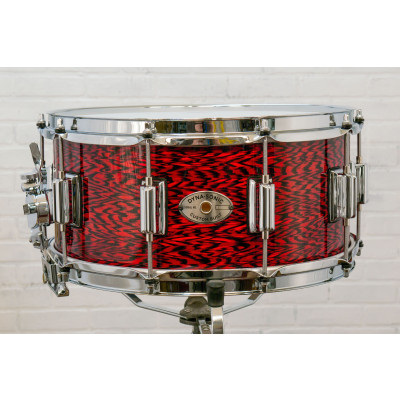 "Rogers Dynasonic 6.5"" x 14"" Wood Shell Snare Drum - Red Onyx w/ Beavertail Lugs"
