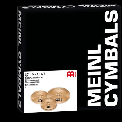 """Meinl Classics Standard Set, 14"""" Medium Hihat/16"""" Crash/20"""" Ride"""