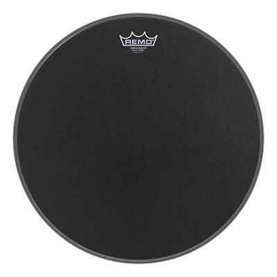 Remo AMBASSADOR Drum Head - BLACK SUEDE 15 inch