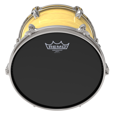Remo AMBASSADOR Drum Head - EBONY 15 inch