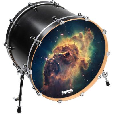 Inked by Evans Custom Printed Bass Drum Heads