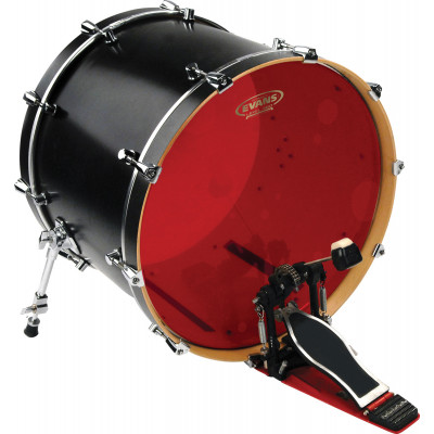 "Evans 20"" Hydraulic Red Bass Drum Head"