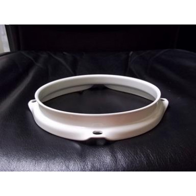 "6"" 4 Lug 2.3MM Flanged Hoop Powder Coated White - S2306-4WH"