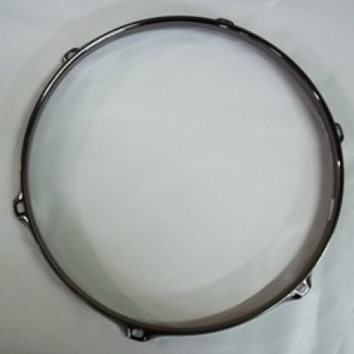 "12"" 6 Lug 2.3MM Flanged Hoop Black Nickel - S2312-6B"