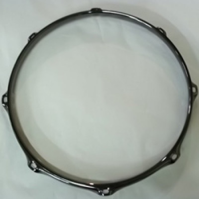 "12"" 8 Lug 2.3MM Flanged Hoop Black Nickel - S2312-8B"
