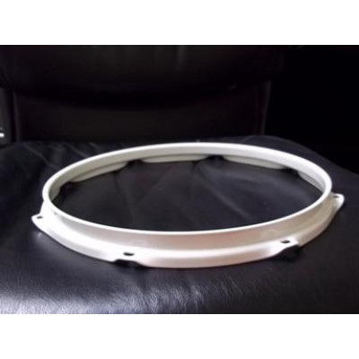"12"" 8 Lug 2.3MM Flanged Hoop Powder Coated White - S2312-8WH"
