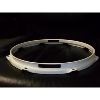 "12"" 6 Lug 2.3MM Flanged Hoop Snare Side Powder Coated White"