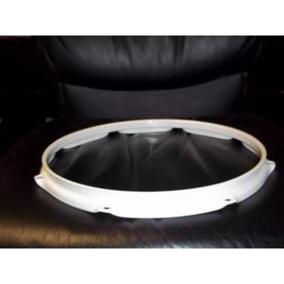 "13"" 8 Lug 2.3MM Flanged Hoop Powder Coated White - S2313-8WH"
