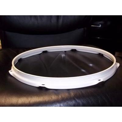 "14"" 10 Lug 2.3MM Flanged Hoop Powder Coated White - S2314-10WH"