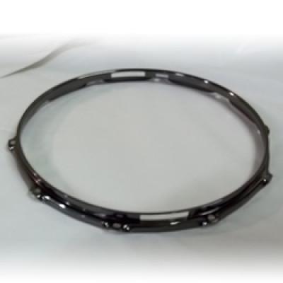 """14"""" 10 Lug 2.3MM Flanged Hoop Snare Side Black Nickel - S2314S-10B"""