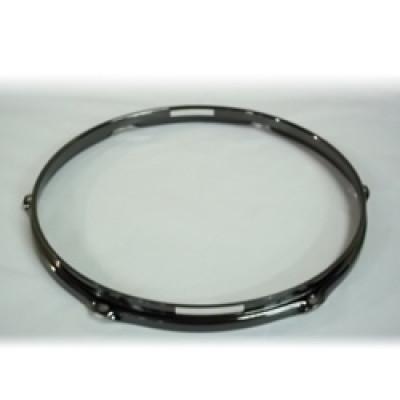 """14"""" 6 Lug 2.3MM Flanged Hoop Snare Side Black Nickel - S2314S-6B"""