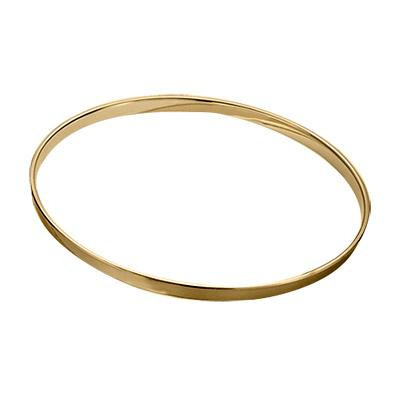 "12"" 2.5mm Single Flange Hoop - Brass Plated"