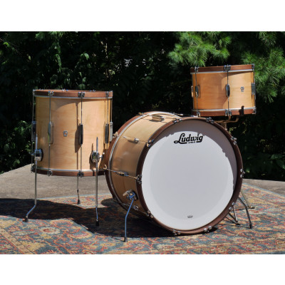 Ludwig Club Date Fab 3pc Shell Pack with Maple Hoops - Satin Natural