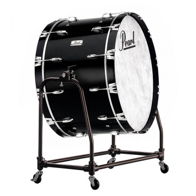 Pearl Concert Bass Drums w/ Direct Mount Stand - Midnight Black